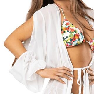 Białe pareo pasuje do wszystkiego 🤍 Masz już swoje?   #gabbiano #gabbianopl   #bikini #swimsuit #pareo #beachoutfit #summerootd