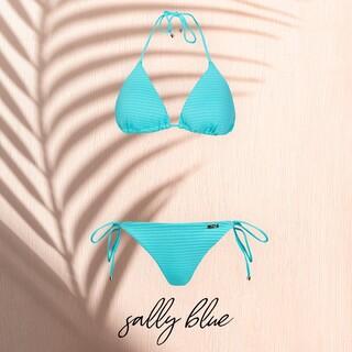 Sally Blue to jedno z bikini, które najbardziej pokochałyście w tym roku 😍  Jeśli też lubicie niebieski, wstawcie w komentarzu emoji w tym kolorze 💙💦🐳💎  #gabbiano #gabbianopl   #bikini #bluebikini #swimsuit #swimwear #polskamarka